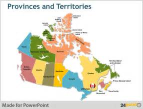 map of canada with provinces and major cities powerpoint