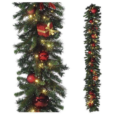 Led Girlande Weihnachten by Deko Weihnachts Girlande Led 270 Cm Lang Gr 252 N Rot