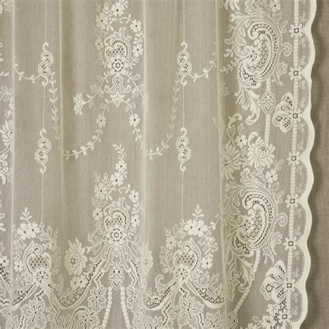 Scottish Lace Curtains Scottish Lace Curtains Scottish Cotton Madras Lace Curtain Panel 126 Quot X 69 Quot Sold