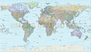 To Scale World Map by Digital Vector World Map Equirectangular Projection World