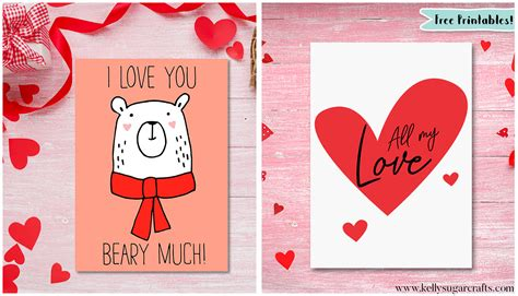 valentines cards to print free s day printable cards sugar crafts
