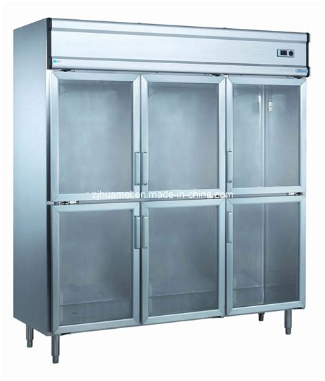 china 1600l commercial refrigeration with glass doors