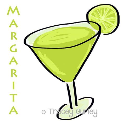 strawberry margarita clipart margarita illustration original digital