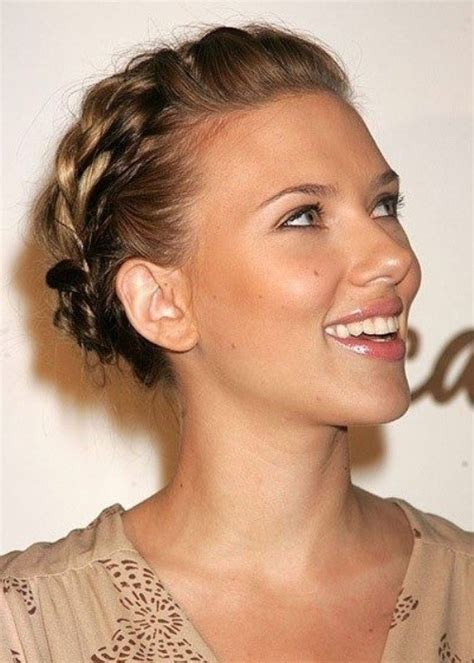 scarlett johansson short hair updo style hair world magazine 18 pretty updos for short hair clever tricks with a