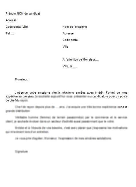 Lettre De Motivation De Candidature Université Visuel Modele Lettre De Motivation Candidature Spontanee
