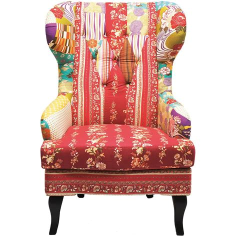 Patchwork Armchair romany patchwork wingback armchair bedroom company