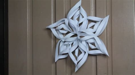 Paper Snowflakes - how to make a 3d paper snowflake 13 steps with pictures