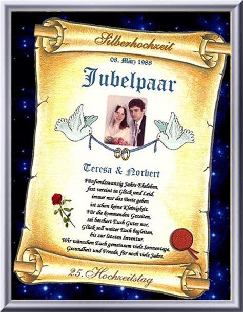 Hochzeit 33 Jahre by 25 Hochzeitstag Urkunde Zur Silber Hochzeit