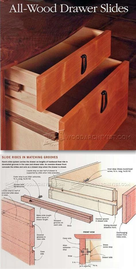 wooden drawer slides wax 17 best images about drawer construction on