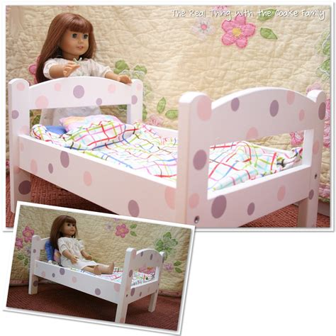 bed dolls american girl doll craft make an adorable polka dot doll bed