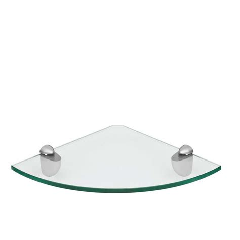 glass corner shelf 300x300mm mastershelf