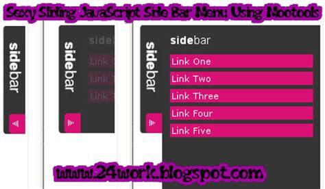 html side menu bar template tutorial sliding javascript side bar menu