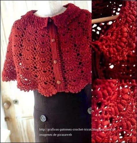 capas tejidas a gancho tejidos a crochet ganchillo patrones chal capa