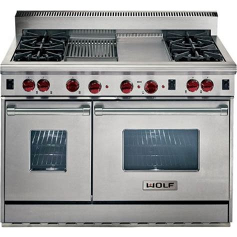 wolf 48 gas wolf r484cg lp 48 quot gas with 4 open burners w infrared