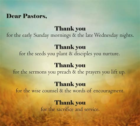 thank you letter to our pastor you said thank you to your pastor recently verses