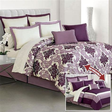 Purple And Grey Bedding Sets 17 Best Images About Master Bedroom On Pinterest Bed In A Bag Damasks And Duvet Covers