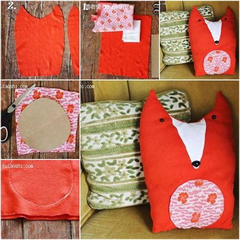 How To Hump A Pillow Step By Step by How To Make Custom Stuffed Animals Fabric Fox Pillow