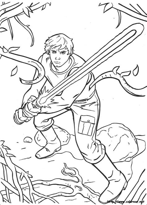 free star wars luke skywalker coloring pages