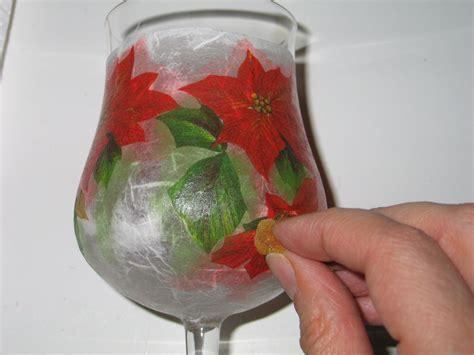 tutorial decoupage su bottiglia vetro calici eleganti per natale bricolageonline net