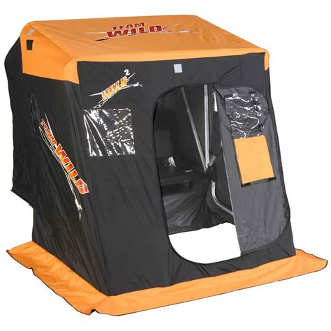 portable fish house wild outdoors 174 2 person portable fish house package 174357 ice fishing shelters