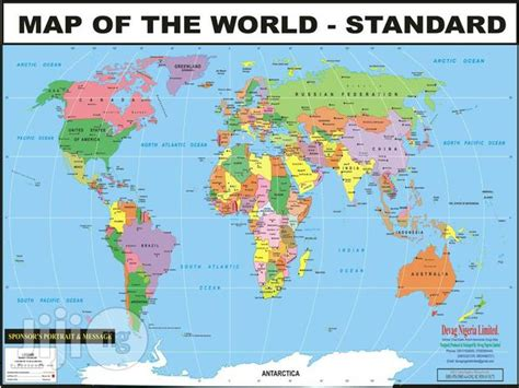 world map showing  countries   world  sale