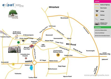 Map Address Lookup Expat The Wisdom Tree Hennur Road Bangalore