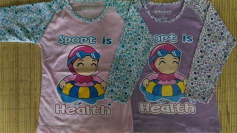 Kaos Anak Muslim Zahra Smile Kaos Anak Muslim Zahra Sport Health Grosir Baju Anak
