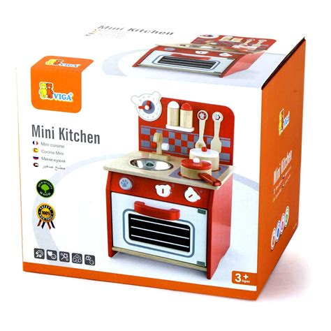 Mini Kitchen Set Wooden Childrens Mini Kitchen Pretend Cooking Play Set Pots Pans Ebay