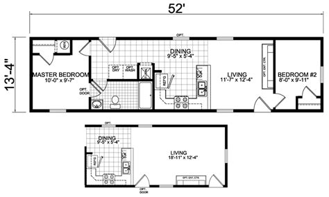 sizes of mobile homes 18 foot wide mobile home floor plans
