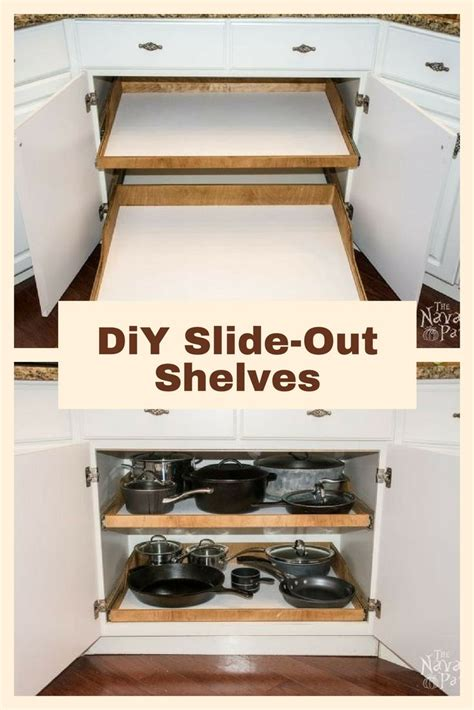slide out cabinet shelves best 25 slide out shelves ideas on kitchen