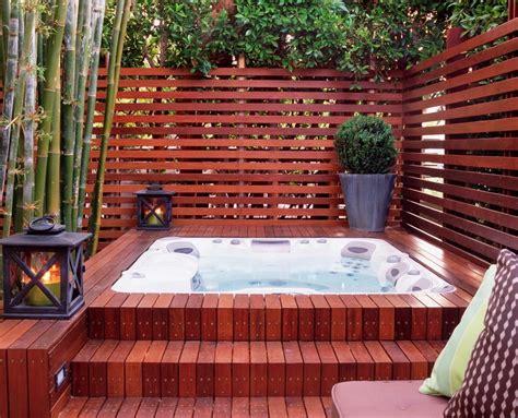 tub enclosure deck contemporary with ipe brown garden