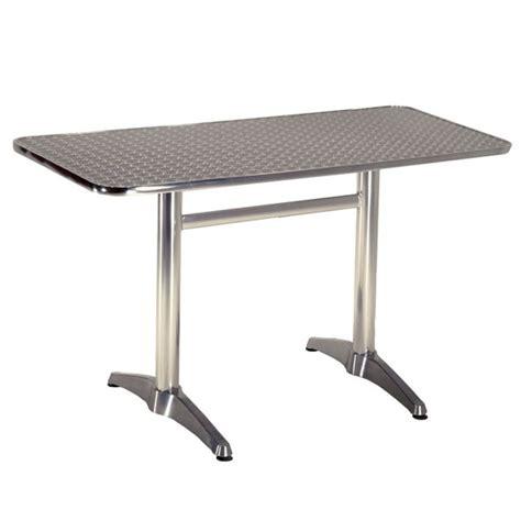 vista aluminium bistro outdoor table contract furniture
