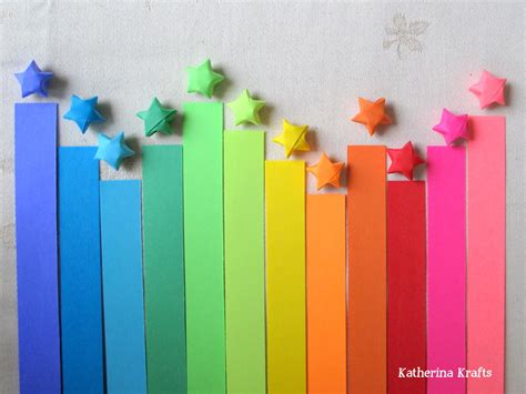 Origami With Strips Of Paper - katherina krafts how to make origami lucky