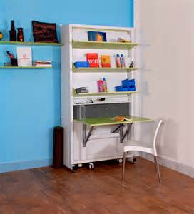 spaceone space saving single bed study table by