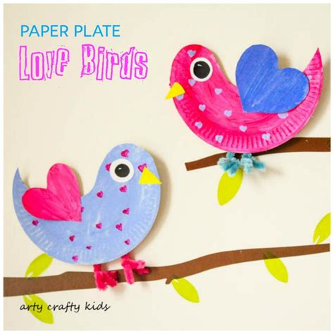 Paper Plate Bird Craft - paper plate birds arty crafty