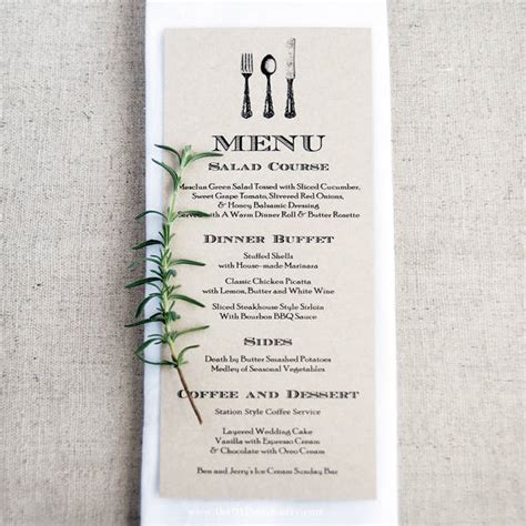 diy menu card template wedding menu card 9 free psd eps vector free
