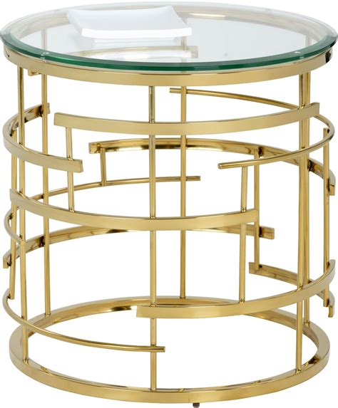 gold metal end table cielo gold metal end table from sunpan coleman furniture