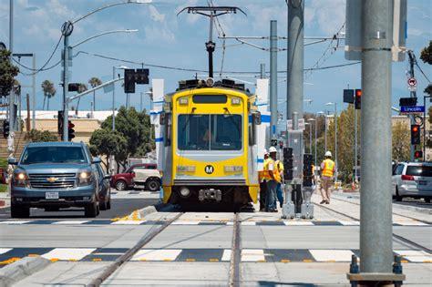 days of walking across santa light rail tracks are