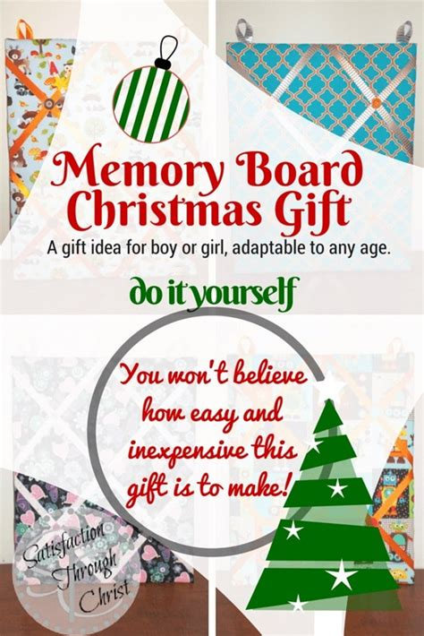 memory board christmas gift do it yourself
