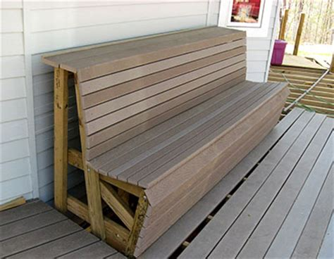deck bench height project deck