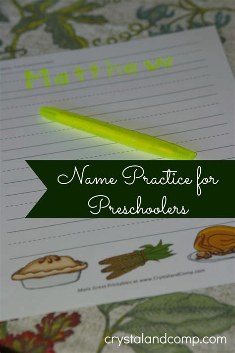 thanksgiving themed names name practice for preschoolers thanksgiving themed printable