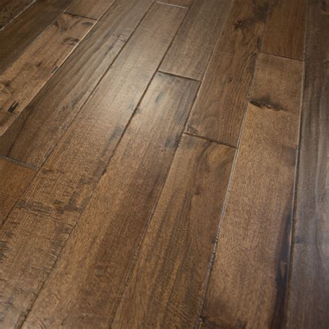 hickory hand scraped prefinished solid wood flooring 5 quot x3 4 quot old west rustic hardwood