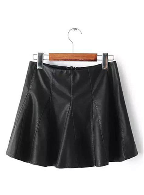 black a line skirt leather look