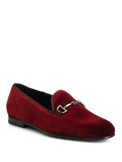 velvet loafers lyst giorgio armani velvet loafers in for