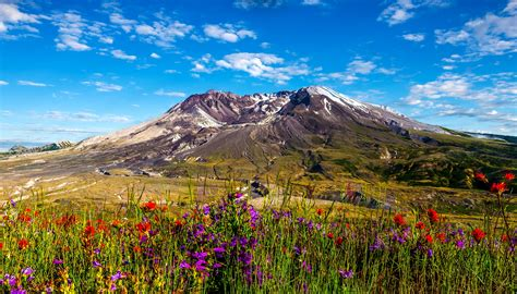 Painting Interior Walls by Mount St Helens Washington 3500 X 2000 Mountains