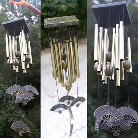 Decorative Wind Chimes by Copper Hanging Metal Wind Chime Mobile Outdoor Ornament