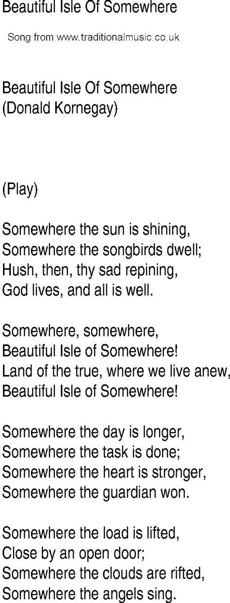 beautiful testo song and ballad lyrics for beautiful isle of