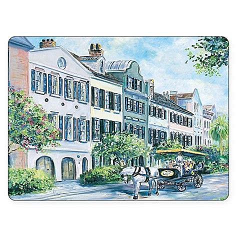 bed bath and beyond charleston wv pimpernel historical charleston rainbow row placemats set