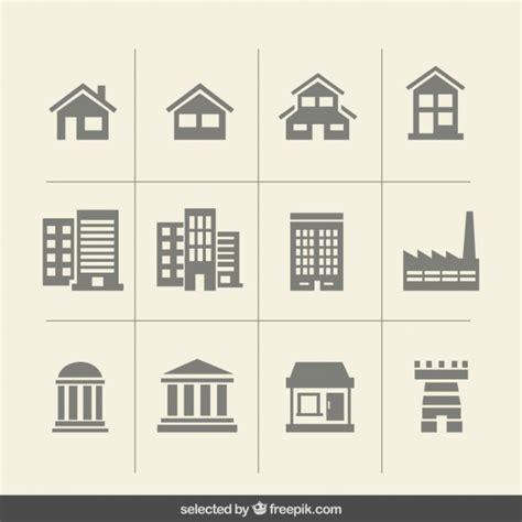 icon design build building monochrome icons vector free download