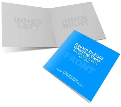 folded card template photoshop cs6 square bi fold greeting card mockup cover actions